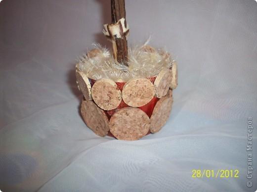 Деревянными розочками меня заразила Оля(Eiris), вот из остатка накрученных и соорудила такое деревце фото 4