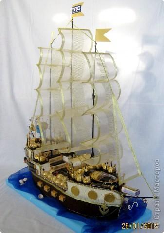 Свит-дизайн День рождения МЕГА сладкий корабль Бумага гофрированная фото 1