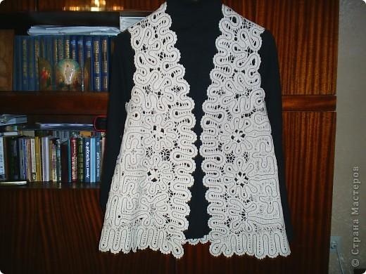 Гардероб Плетение на коклюшках Жилет Нитки фото 1. Жилет нитками