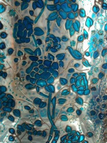 Ваза для цветов, одна из первых работ витражными красками) фото 4