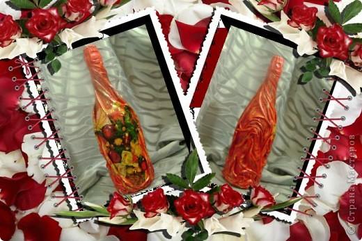 Объемный декупаж.Здесь я использовала:салфетку,яичную скарлупу,акриловые краски,для объема шпаклевку. фото 3