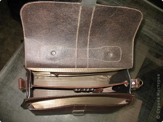 Самодельная сумка-клатч из кожи растительного дубления