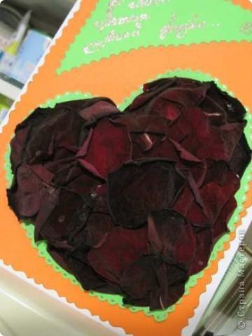 """Вот такая валентинка была сделана мной для участия в экспресс-задании """"Необычное сердце"""", проводимом на Хомячок Challenge. фото 2"""