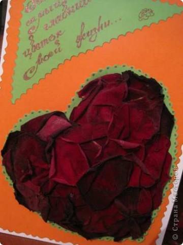 """Вот такая валентинка была сделана мной для участия в экспресс-задании """"Необычное сердце"""", проводимом на Хомячок Challenge. фото 4"""