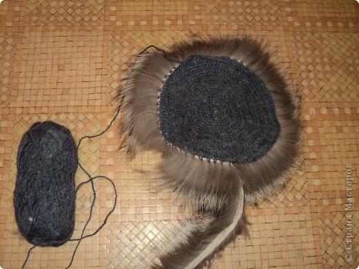 вязание шапка объемные нитки