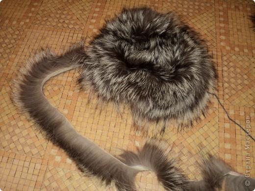 Вязание шапка мех