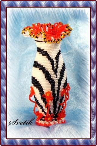 ваза бисероплетение - Вазы - Фотоальбомы - Объемный мир Виктории.
