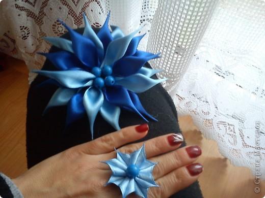 """брошка и пръстен """"Синева"""" фото 1"""