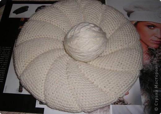 Вязание крючком: берет