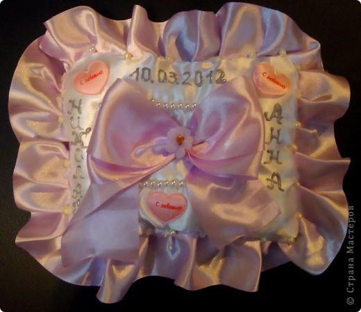 Подушечка для колец на свадьбу. фото 1