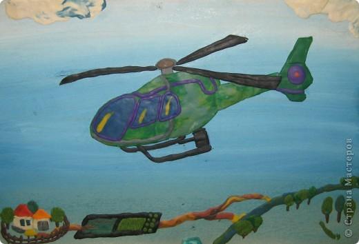 Как сделать вертолет из пластилина