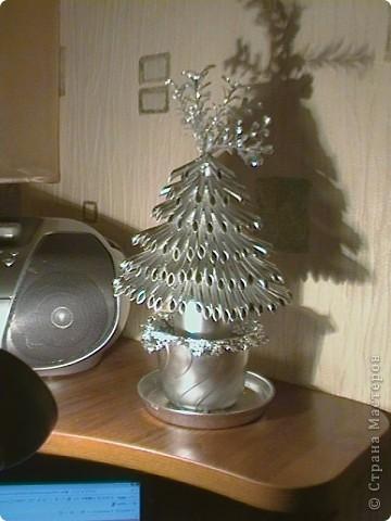 Серебрянная ёлка фото 1