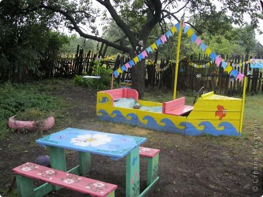 Поделки на детский участок своими руками из дерева фото