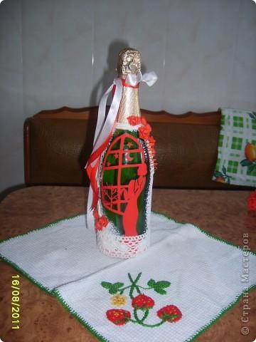 Украшаем бутылочки фото 2