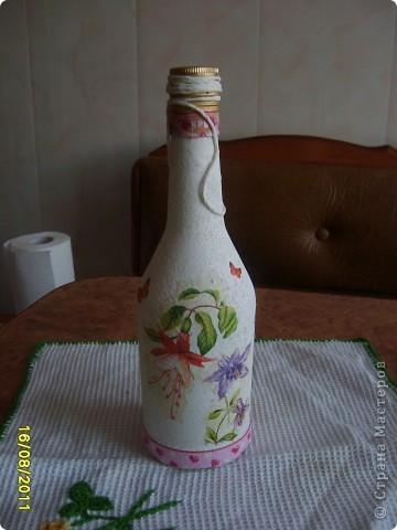 Украшаем бутылочки фото 7