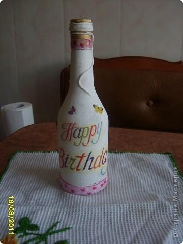 Украшаем бутылочки фото 8