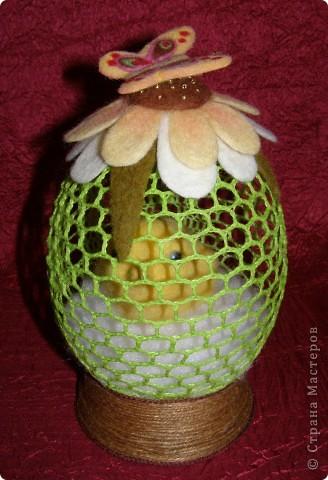 Вязаное пасхальное яйцо с цыпленком + описание   Страна ...