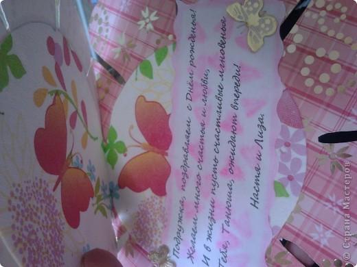 Верх сделан декупаж салфетки, украшен наклейками и раскрашен блестками фото 2