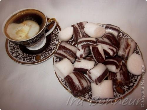 Мраморные конфеты из маршмеллоу фото 1