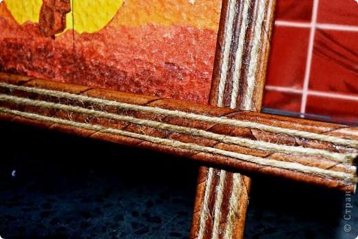 Всем доброго времени суток. Сегодня хочу Вам показать как я делаю рамки из бумажных трубочек для своих панно. Кто заинтересовался приятного просмотра))) фото 21