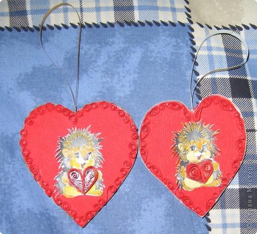 валентинки с ёжиками