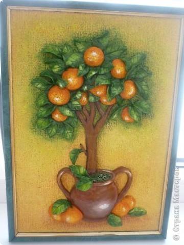 Лепка Апельсиновое дерево