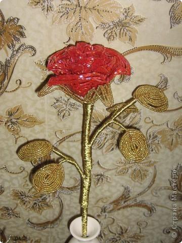 Поделка изделие Бисероплетение Роза из бисера Бисер фото 1.