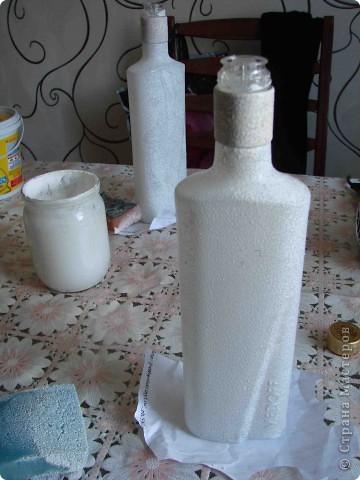 Декор предметов Декупаж Роспись Черно-белый декор бутылочек + маленький МК Бумага Бутылки стеклянные Краска Материал бросовый фото 4