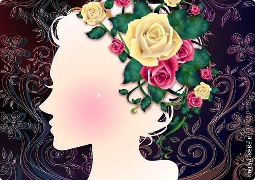 Девушка и розы фото 3