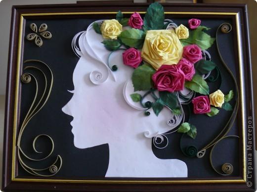 Девушка и розы фото 1