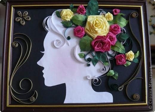 Девушка и розы фото 2