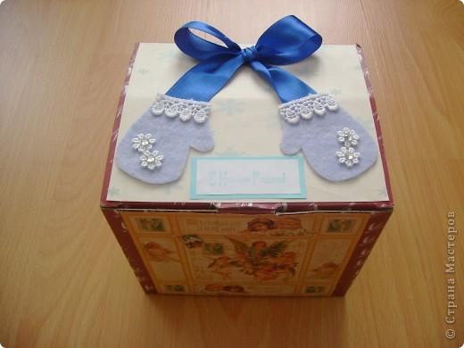 Верх коробочки с подарком. Подружка попросила украсить. фото 2