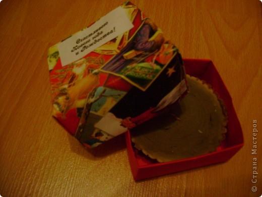 Верх коробочки с подарком. Подружка попросила украсить. фото 9