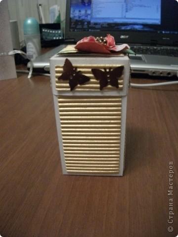 Теперь и я сделала коробочку с сюрпризом))) Планирую подарить ее маме. фото 1