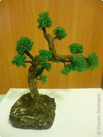 Это моё первое дерево из бисера. фото 2