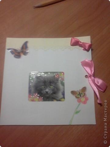 В дополнение ко всем подаркам своей любимой подружке, их можно посмотреть в моем блоге, я решила сделать открытку! Так как Марише только 9 лет, то я сделала легкую детскую открыточку))) фото 1