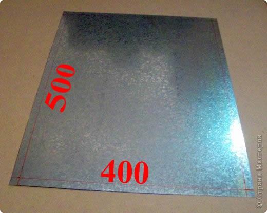 Сделать коробок своими руками из картона ни для кого не представляет серьезных трудностей. Немного посложней работать с оцинкованным железом, но коробок для себя можно сделать. Несколько слов об оцинкованном железе.  Продается часто в строительных магазинах размерами 1000мм х 2000мм, толщиной 0,35 мм. по цене 80-100 гривень за лист.  фото 4