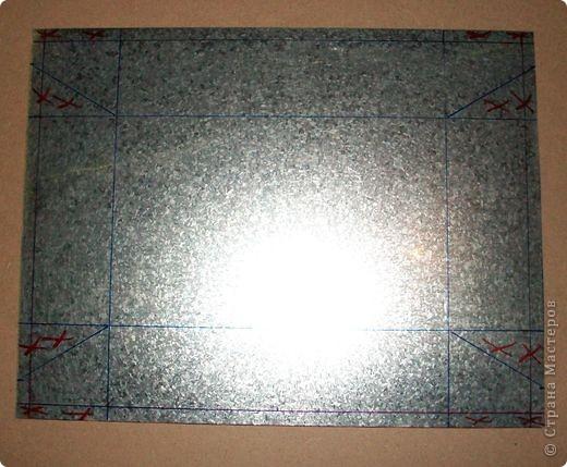 Сделать коробок своими руками из картона ни для кого не представляет серьезных трудностей. Немного посложней работать с оцинкованным железом, но коробок для себя можно сделать. Несколько слов об оцинкованном железе.  Продается часто в строительных магазинах размерами 1000мм х 2000мм, толщиной 0,35 мм. по цене 80-100 гривень за лист.  фото 8