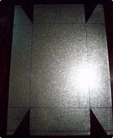 Сделать коробок своими руками из картона ни для кого не представляет серьезных трудностей. Немного посложней работать с оцинкованным железом, но коробок для себя можно сделать. Несколько слов об оцинкованном железе.  Продается часто в строительных магазинах размерами 1000мм х 2000мм, толщиной 0,35 мм. по цене 80-100 гривень за лист.  фото 13