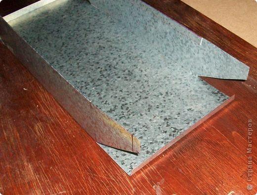 Сделать коробок своими руками из картона ни для кого не представляет серьезных трудностей. Немного посложней работать с оцинкованным железом, но коробок для себя можно сделать. Несколько слов об оцинкованном железе.  Продается часто в строительных магазинах размерами 1000мм х 2000мм, толщиной 0,35 мм. по цене 80-100 гривень за лист.  фото 16