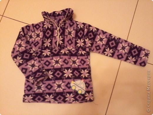 Не жизнь, а сплошные приключения! Купила метр красивого фиолетово-сиреневого флиса. И понеслось!!! Конечно, метра не хватило:)))) Сшила своим детишкам (сыну и сестрёнке) вот такие фиолетовые одёжки:))) Принимайте! фото 2