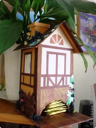 Вот такой домик я сделала в подарок замечательной мастерице AnnaDemakova фото 2