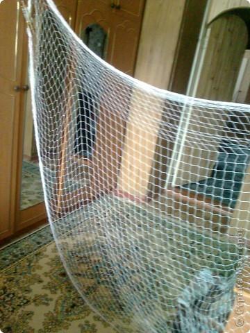 Сеть сплетена из капроновой нити. фото 1