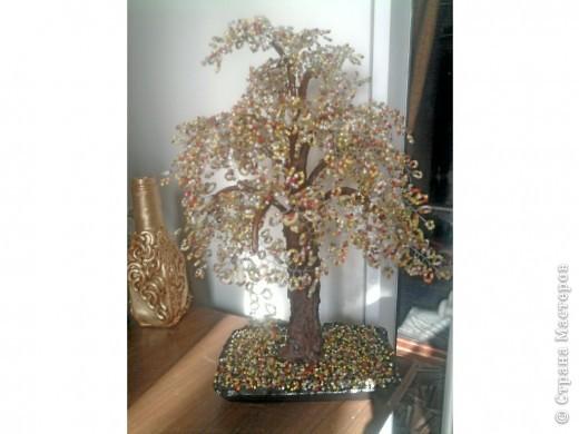 Бисероплетение - осеннее дерево -1 из бисера.