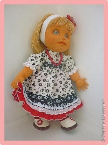 Алиса - авторская текстильная кукла. Сделана из винтажного, очень крепкого трикотажа. Рост 50 см. фото 2