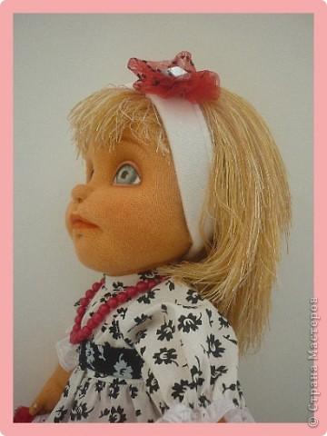 Алиса - авторская текстильная кукла. Сделана из винтажного, очень крепкого трикотажа. Рост 50 см. фото 1
