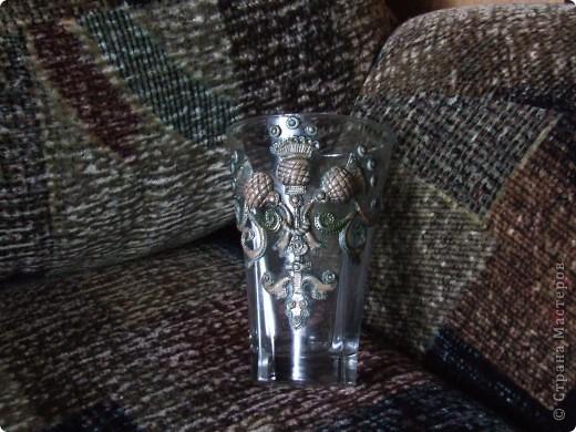 Декорирование старой вазочки. фото 2