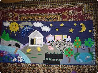 вот такой коврик я пошила для доченьки. Солнечная сторона. фото 3