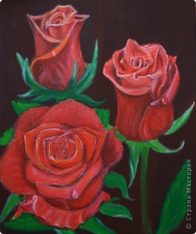 Розы, акрил фото 2