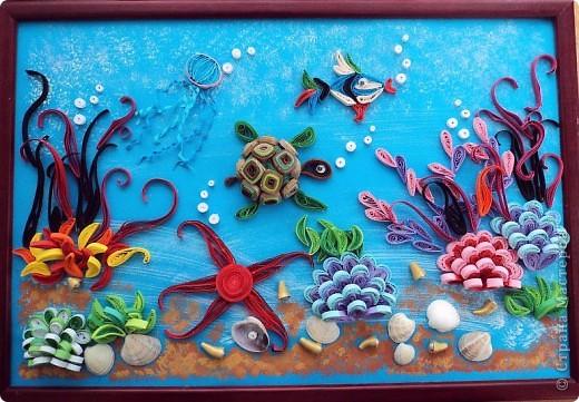 А эта работа Ирины12 лет, сестры Маши...:)))) Это наше морское дно...:)))) фото 1